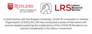 rutgers and LRS project on women's leadership in the labour movement